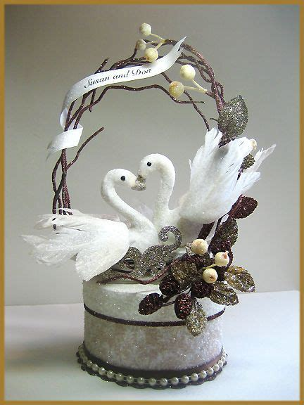 """Swans in Love"" Wedding Cake Topper Image   Cakes"