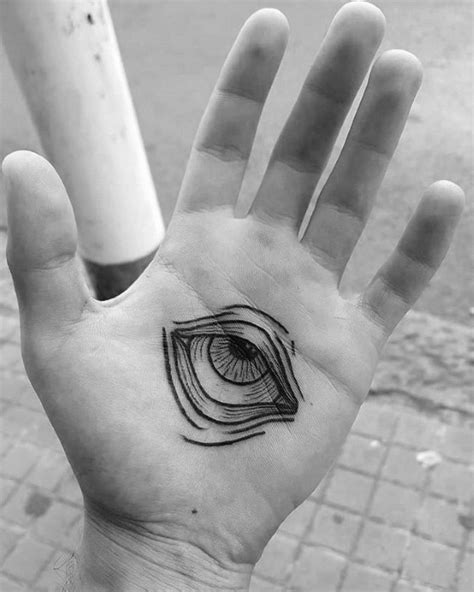 tattoo of eye in palm of hand 50 traditional eye tattoo designs for men old school ideas