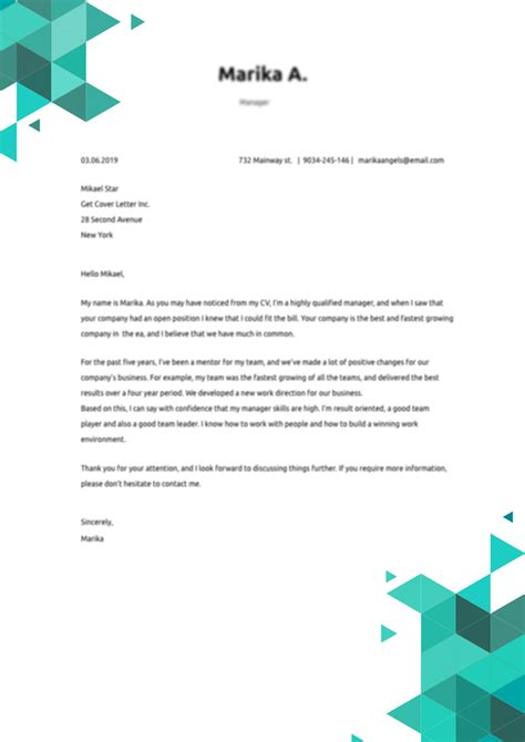 graphic designer cover letter sample template