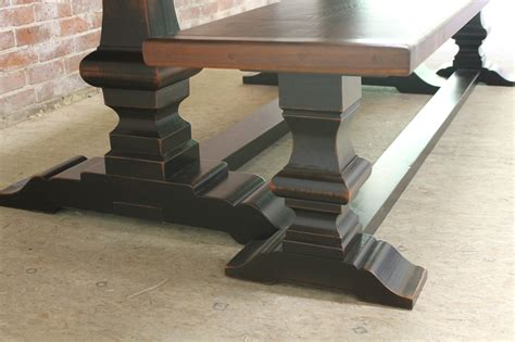 trestle table with benches venetian trestle table with matching bench lake and mountain home