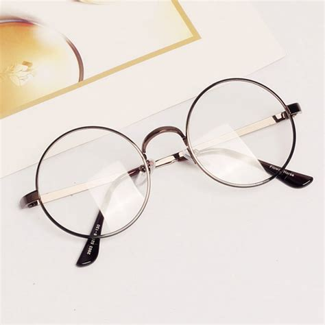 Metal Frame Lens Glasses retro metal frame clear lens glasses