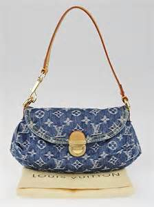louis vuitton blue monogram denim mini pleaty bag yoogi