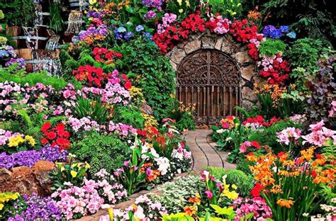 Pictures Of Beautiful Flowers In A Garden 10 Floral Garden Gates In Bold Color Garden Club