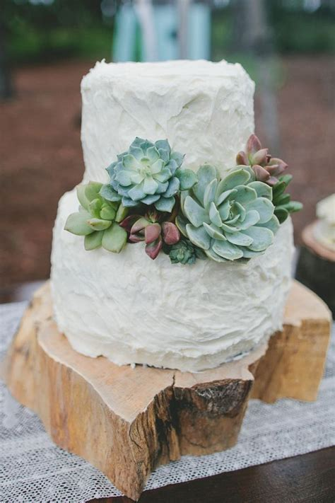 Wedding Cake With Succulents by