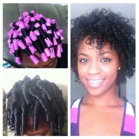 natural hairstule using perm rods i love my perm rods natural hairstyles pinterest