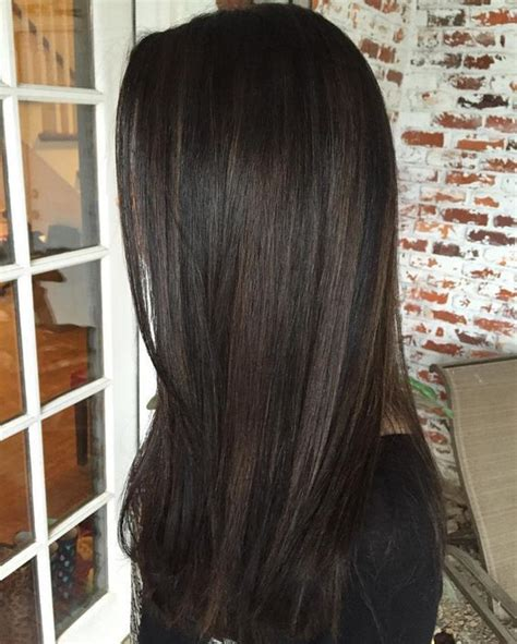 brown black hair color 10 black hair with chestnut highlights styleoholic