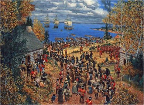 the deportation of the acadians by the acadians awaiting deportation from nantes