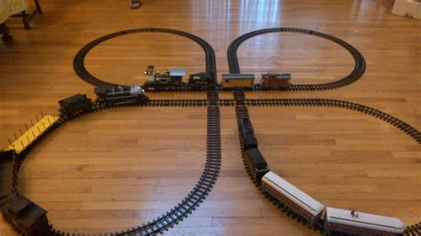 Track Battery Operated g cross clover eztec track layout for battery operated trains
