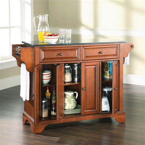 crosley furniture solid black granite top kitchen cart in crosley furniture lafayette solid black granite top