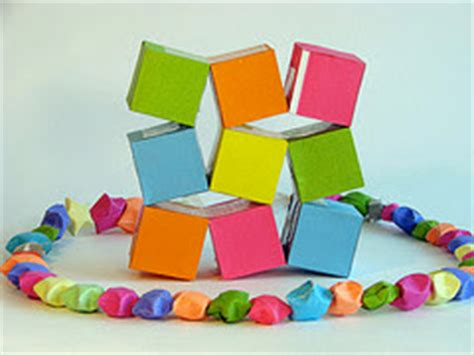 Moving Cubes Origami - origami maniacs origami moving cubes by heinz strobl