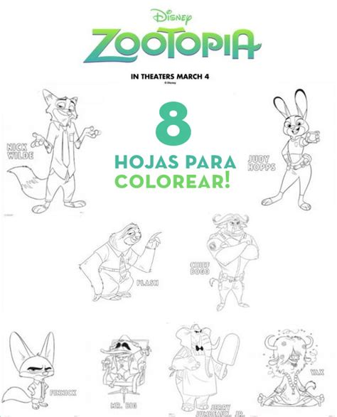 dibujos para colorear zootopia zootopia blog celebrando fiestas