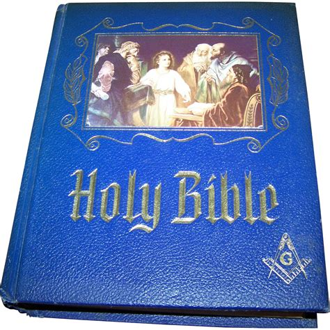 masonic large pictorial holy bible king james version red