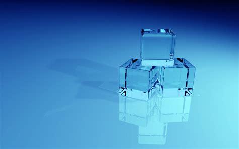 wallpaper blue glass 3d wallpapers blue glass blocks widescreen by b a88
