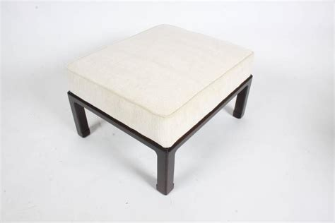 Asian Ottoman Edward Wormley For Dunbar Asian Inspired Ottoman Or Stool For Sale At 1stdibs