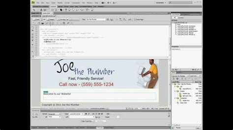 creating and editing templates in dreamweaver cs4 youtube