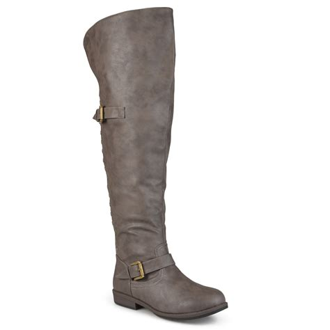 the knee boots wide calf brinley co womens wide calf the knee inside pocket