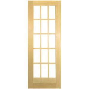 15 Light Interior Door Masonite 36 In X 80 In 15 Lite Solid Smooth Unfinished Pine Veneer Composite