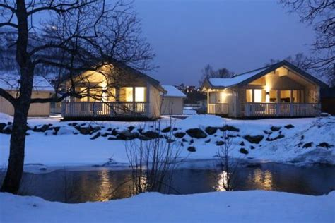 Cabins In Tromso by Cabin 10 And In The Background Sorry About The