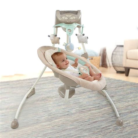 baby swing with lights baby infant ingenuity inlighten cradle swing with
