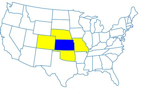 map of us states kansas map of kansas and surrounding states kansas map