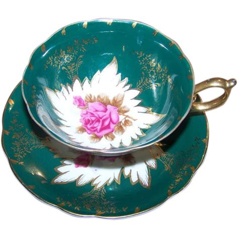 Japanesse Tea Set Pink Flower pink floral castle china japan tea cup saucer set