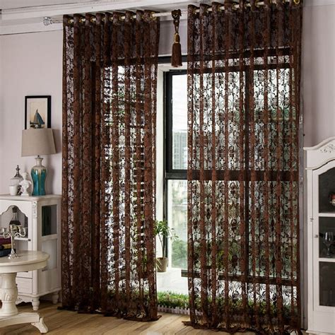 dark brown curtains blackout curtains rideaux curtain for the kitchen summer