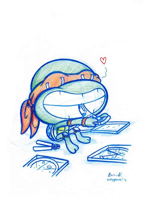daily disney doodle blue doodle 43 michelangelo and his pizza flickr