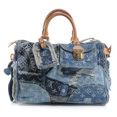 Louis Vuitton Patchwork - louis vuitton denim patchwork speedy 30 50963
