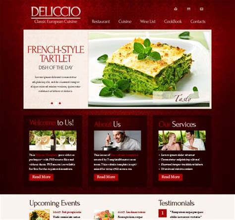 css layout restaurant 60 modern and professional looking yet free xhtml css