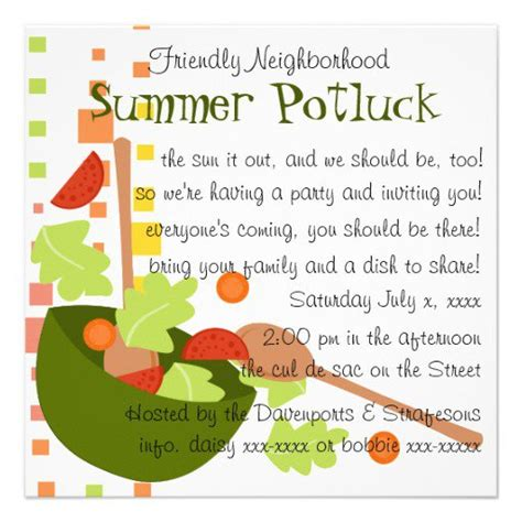 Funny Potluck Invitation Wording Potluck Invitation Template