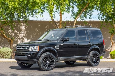 white land rover lr4 with black wheels 2013 land rover lr4 with 20 quot redbourne dominus in matte