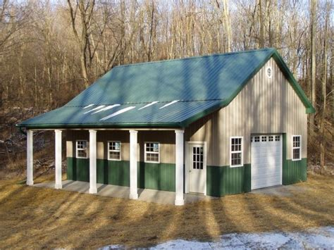 Man Cave Garage Designs burly oak builders 24 x 32 x 12 with lean to porch