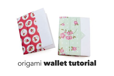how to make a card wallet diy origami wallet