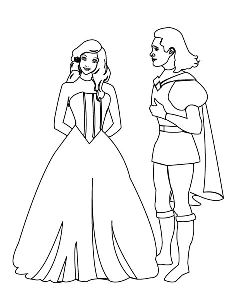 Prince Coloring Pages Barriee Princess Drawing Free Coloring Sheets
