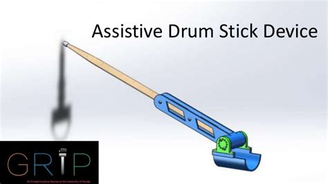 Slide And Soul Drum Stick assistive drum stick device
