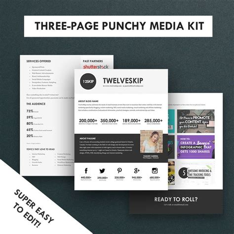 media kit templates 17 best images about media kit design exles on