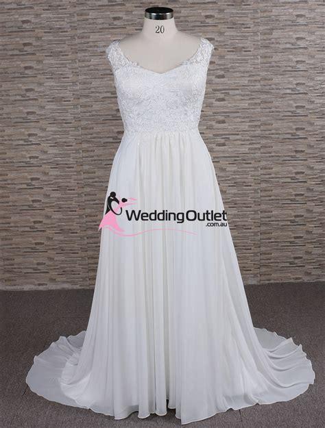 Morgan Simple Lace Beach Bridal Gown   WeddingOutlet.com.au