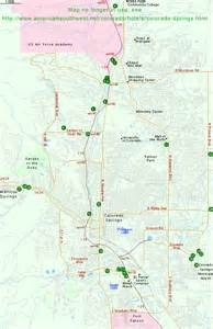 map of hotels in colorado springs and manitou springs