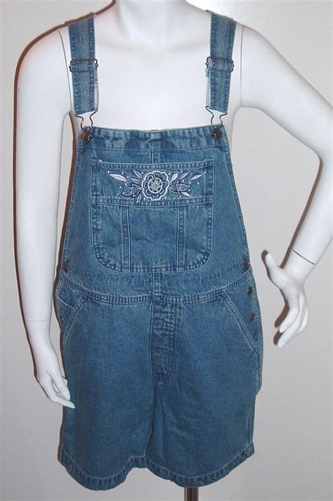 Prilly Overall Blue 1 bib overalls shorts denim blue size s nwot shorts
