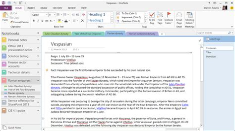 templates for onenote 2013 onenote 2013 dadams co uk