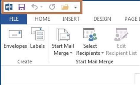 quick layout word 2013 customize the quick access toolbar in word 2013