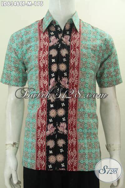 kemeja batik halus berbahan adem proses cap tulis motif kemeja batik lengan pendek modis pakaian batik halus