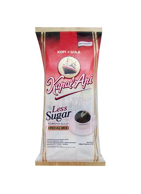 kapal api kopi bubuk less sugar special mix pck 10x19g klikindomaret