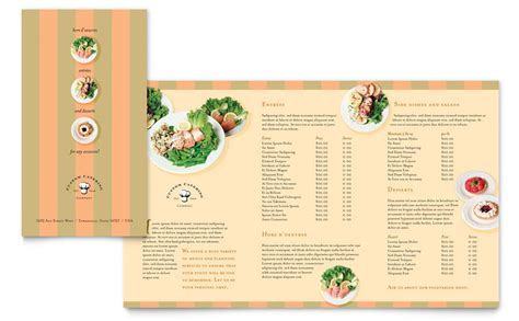catering company take out brochure template word publisher