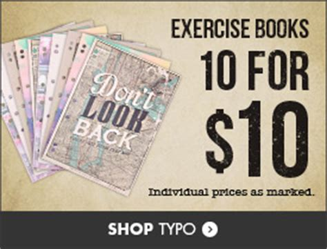 burning workouts book bundle books typo stationery bundle buy offers 10 exercise books for