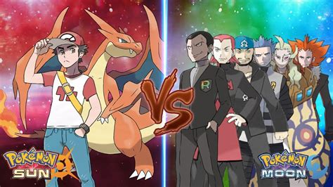libro red rockets and rainbow pokemon sun and moon trainer red vs team rainbow rocket youtube