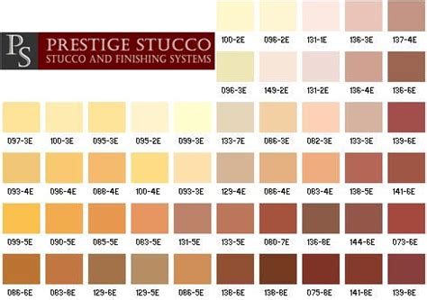 stucco color chart prestige stucco