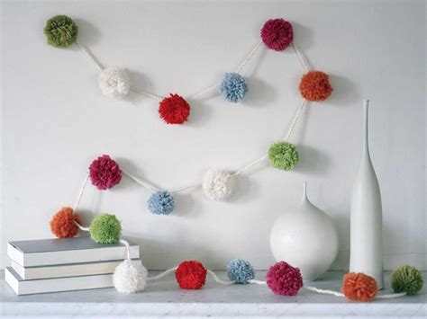 How To Make Paper Pom Pom Garland - how to make paper pom pom garland how to make your own