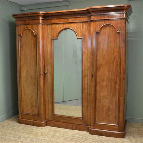 large mahogany antique wardrobe