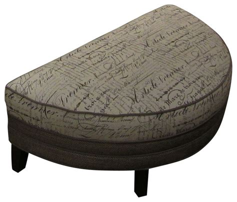 half moon storage ottoman chelsea home corrina half moon ottoman in trousseau wolf